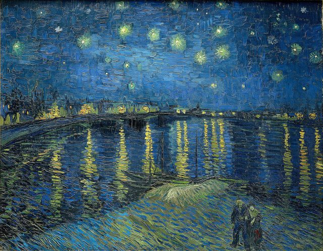 By Vincent van Gogh - http://art-vangogh.com/image/Arles%20(1888-1889)/106%20Starry%20Night%20Over%20the%20Rhone.jpg, Public Domain, https://commons.wikimedia.org/w/index.php?curid=142141